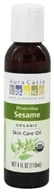 Aura Cacia - Certified Organic Skin Care Oil Sesame - 4 oz.