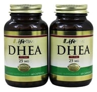 LifeTime Vitamins - DHEA (60+60) Twin Pack 25 mg. - 120 Capsules (053232422409)