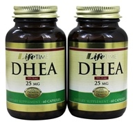 LifeTime Vitamins - DHEA (60+60) Twin Pack 25 mg. - 120 Capsules - $16.38