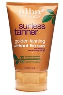 Alba Botanica - Very Emollient Sunless Golden Tanning without the Sun Lotion - 4 oz.