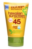 Alba Botanica - Alba Hawaiian Natural Sunblock Green Tea 45 SPF - 4 oz.
