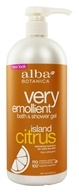 Image of Alba Botanica - Very Emollient Bath & Shower Gel Island Citrus - 32 oz.