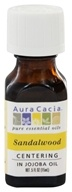Image of Aura Cacia - Precious Essentials Centering Sandalwood in Jojoba Oil - 0.5 oz.