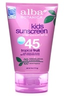 Alba Botanica - Very Emollient Natural Protection Kids Sunblock 45 SPF - 4 oz. - $7.53