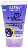 Alba Botanica - Very Emollient Sunblock Organic Lavender 45 SPF - 1 oz., from category: Personal Care