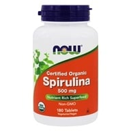 Image of NOW Foods - Spirulina 500 mg. - 180 Tablets