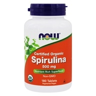 NOW Foods - Spirulina 500 mg. - 180 Tablets (733739027047)