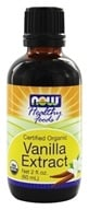 NOW Foods - Vanilla Liquid Extract, Organic, Non-GE - 2 oz.