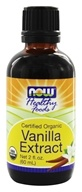 NOW Foods - Vanilla Liquid Extract, Organic, Non-GE - 2 oz. by NOW Foods