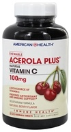 American Health - Acerola Plus Natural Vitamin C Chewable Natural Berry Flavor 100 mg. - 250 Tablets by American Health