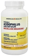 American Health - Acidophilus Chewable With Bifidus Natural Banana Flavor - 100 Wafers (076630036153)