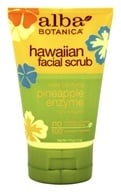 Alba Botanica - Alba Hawaiian Facial Scrub Pineapple Enzyme - 4 oz., from category: Personal Care