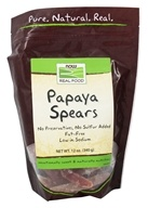 NOW Foods - Papaya Spears - 12 oz. by NOW Foods