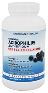 American Health - Acidophilus Chewable With Bifidus Natural Blueberry Flavor - 100 Wafers