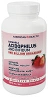 American Health - Acidophilus Chewable With Bifidus Natural Strawberry Flavor - 100 Wafers
