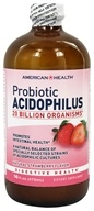 American Health - Probiotic Acidophilus Culture Natural Strawberry Flavor - 16 oz. by American Health