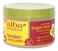 Alba Botanica - Alba Hawaiian Body Polish Sugar Cane - 10 oz. (724742008208)