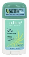 Image of Alba Botanica - Clear Enzyme Deodorant Stick Tea Tree - 2 oz.