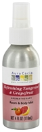 Image of Aura Cacia - Aromatherapy Mist For Room and Body Tangerine & Grapefruit - 4 oz.