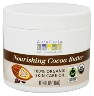 Aura Cacia - Pure Aromatherapy Natural Cocoa Butter Light Chocolate - 4 oz.