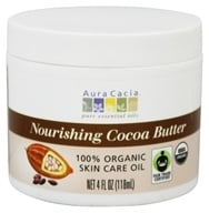 Aura Cacia - Pure Aromatherapy Natural Cocoa Butter Light Chocolate - 4 oz. (051381846275)