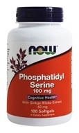 NOW Foods - Phosphatidyl Serine with Ginkgo Biloba Extract 100 mg. - 100 Softgels (733739023865)