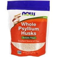 NOW Foods - Psyllium Husks Whole - 1 lb. (733739059819)