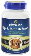 ActiPet - Hip & Joint Defense For Dogs Natural Beef Flavor - 60 Chewable Tablets