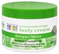 Image of Aura Cacia - Aromatherapy Body Cream Ginger & Mint - 8 oz.
