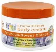 Aura Cacia - Aromatherapy Body Cream Patchouli & Sweet Orange - 8 oz. - $6.89