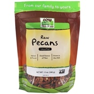 Image of NOW Foods - Pecan Raw Halves and Pieces - 12 oz.