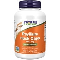 NOW Foods - Psyllium Husk 500 mg. - 200 Capsules (733739059703)
