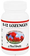 Maxi-Health Research Kosher Vitamins - B-12 Lozenges With Folic Acid & Biotin - 180 Lozenges