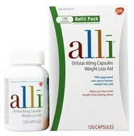 Image of Alli - Orlistat Weight Loss Aid Refill Pack 60 mg. - 120 Capsules
