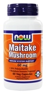 NOW Foods - Maitake Mushroom 60 mg. - 60 Vegetarian Capsules, from category: Nutritional Supplements