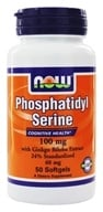 NOW Foods - Phosphatidyl Serine with Ginkgo Biloba Extract 100 mg. - 50 Softgels (733739023858)