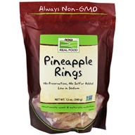 NOW Foods - Dried Pineapple Rings - 12 oz. - $3.99
