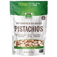 NOW Foods - Roasted Pistachios With Sea Salt - 12 oz.