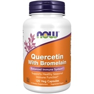 NOW Foods - Quercetin With Bromelain - 120 Vegetarian Capsules (733739030702)