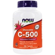 NOW Foods - Vitamin C-500 Chewable Cherry-Berry 500 mg. - 100 Chewable Tablets by NOW Foods
