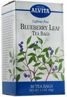 Alvita - Blueberry Leaf Caffeine Free - 30 Tea Bags (726016003728)