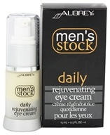 Aubrey Organics - Men's Stock Daily Rejuvenating Eye Cream - 0.5 oz. (749985040198)