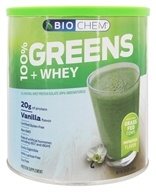 Biochem by Country Life - 100% Greens & Whey Powder Vanilla - 22.7 oz.