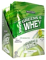 Biochem by Country Life - 100% Greens & Whey Powder Packet Vanilla - 1 oz. OVERSTOCKED