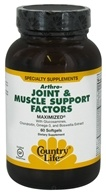 Country Life - Arthro-Joint & Muscle Relief Factors Maximized - 60 Softgels, from category: Nutritional Supplements