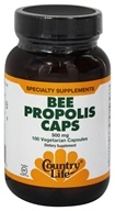 Country Life - Bee Propolis Caps 500 mg. - 100 Vegetarian Capsules - $11.99