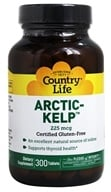 Country Life - Norwegian Kelp Trace Mineral Supplement 225 mcg. - 300 Tablets LUCKY DEAL