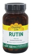 Country Life - Rutin 500 mg. - 100 Tablets - $13.79