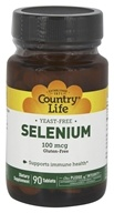 Country Life - Selenium Selenomethionine 100 mcg. - 90 Tablets by Country Life