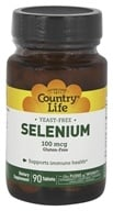 Image of Country Life - Selenium Selenomethionine 100 mcg. - 90 Tablets
